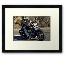 Harley Davidson Motorcycle Rider Framed Print