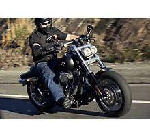 Harley Davidson Motorcycle Rider Photographic Print