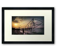Kochi sundown.  Framed Print