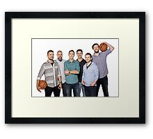 The whole crew Framed Print