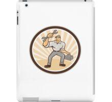 Mechanic Holding Spanner Wrench Toolbox Cartoon iPad Case/Skin