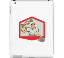Mechanic Hold Spanner Wrench Toolbox Shield iPad Case/Skin