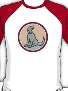 Dog Sitting Looking Up Cartoon T-Shirt