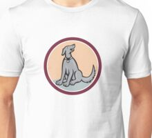 Dog Sitting Looking Up Cartoon Unisex T-Shirt