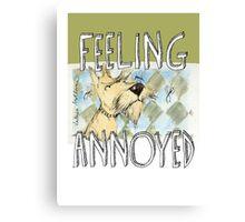 """feeling annoyed"" Canvas Print"