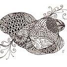 Cascade tangle by Vickie Simons