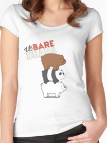 We Bare Bears - Cartoon Network Women's Fitted Scoop T-Shirt