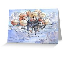 La citta' mongolfiera Greeting Card