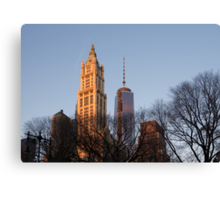 New York Skyline Through the Trees Canvas Print
