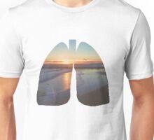 Sunset Beach Lungs Unisex T-Shirt