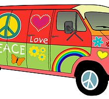 Peace and love van by masterchef-fr