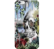 May showers, melting floral skull iPhone Case/Skin
