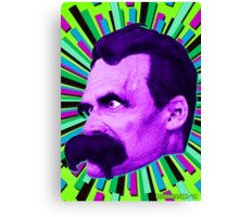 Nietzsche Burst 6 - by Rev. Shakes Canvas Print
