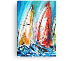 Abstract sail boats  Canvas Print
