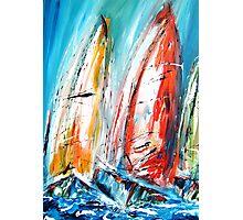 Abstract sail boats  Photographic Print