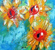 Sunflower splash  by artistpixi