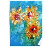 Sunflower splash  Poster
