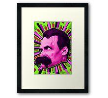 Nietzsche Burst 7 - by Rev. Shakes Framed Print