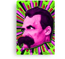 Nietzsche Burst 7 - by Rev. Shakes Canvas Print