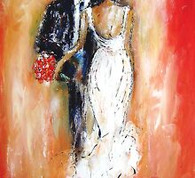 Wedding couple bride and groom  by artistpixi