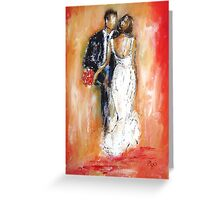 Wedding couple bride and groom  Greeting Card