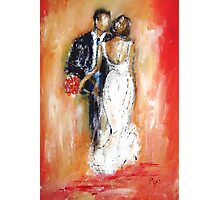 Wedding couple bride and groom  Photographic Print