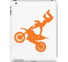 Simple orange dirt bike motocross design iPad Case/Skin