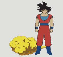 Goku and his cloud fanart by Faramiro