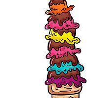 Colorful artistic icecream sundae by artisticattitud