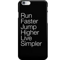 Live Simpler iPhone Case/Skin
