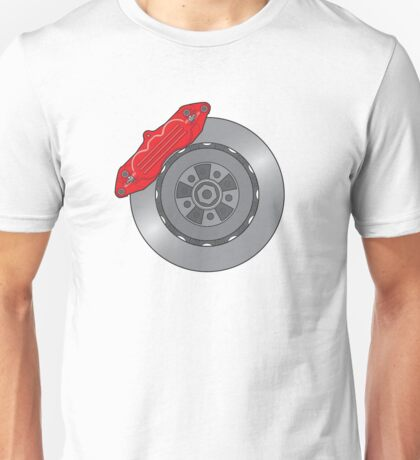 Disc Brake Design - Plain Unisex T-Shirt