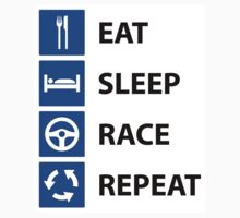 Eat Sleep Race Repeat - Sticker by TERRAOperative