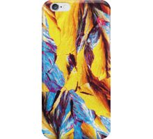 Colorful cracked red yellow blue design iPhone Case/Skin