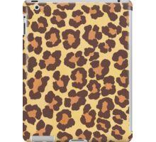 Orange brown leopard spots iPad Case/Skin