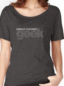 Embrace Your Inner Geek (White) Women's Relaxed Fit T-Shirt