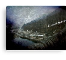 Misty winter in Switzerland Canvas Print
