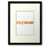 Let's go techno Framed Print