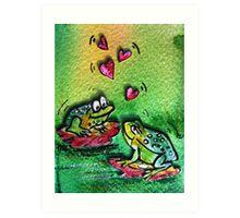 Loving frogs  Art Print