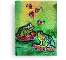 Loving frogs  Canvas Print