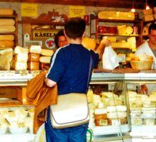 Cheese shop, Nachmarkt, Vienna, Austria Sticker