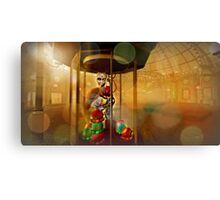 Arcadian Lady At The Claw 5000 Canvas Print