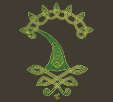 Tree of Life - Green - gold border  by Toradellin