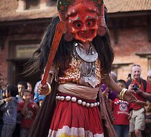 during Nava Durga festival in Bhaktapur.  by queenenigma