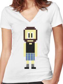 Pixel Scotsman Women's Fitted V-Neck T-Shirt