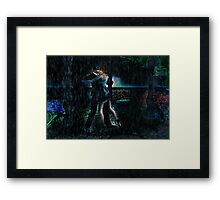 In The Black Rain Framed Print