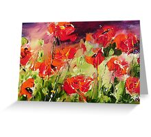 Abstract poppys Greeting Card