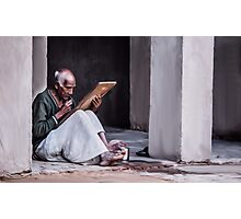 Indian Old Man Photographic Print