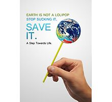 Save Earth Photographic Print