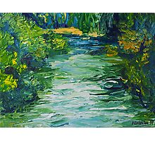 River Painting Oil on Canvas by Ekaterina Chernova Photographic Print
