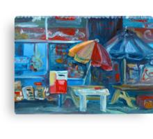 City Shop Original Oil Painting Ekaterina Chernova Canvas Print
